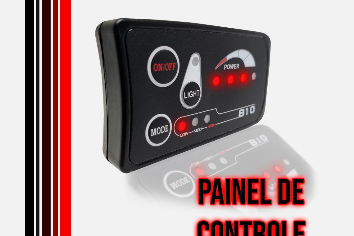 Painel de Controle com 03 posição e indicador de bateria.