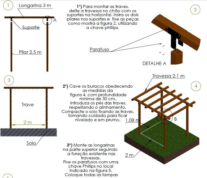 Pergolado madeira plastica grande2 50 2 10 3m r - Medidas de pergolas ...