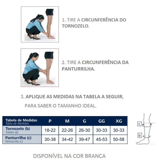 meia anti-trombo 3/4 cirurgica 18-23mmhg - sigvaris