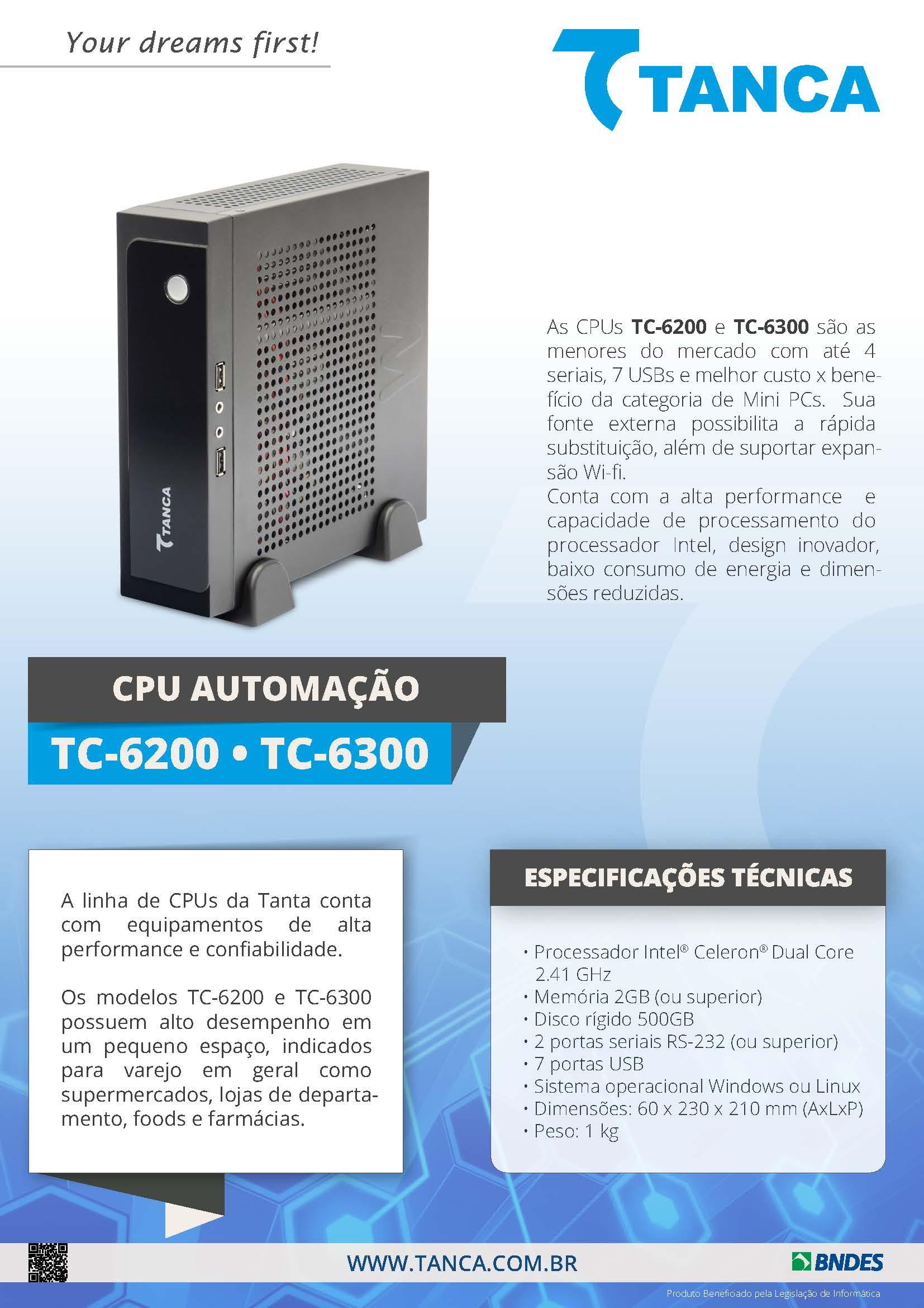 TANCA TC-6220 MINI CPU J1800 2G B 500GB 2SR