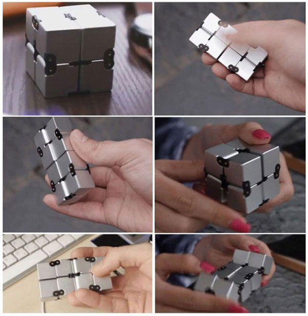 infinite cube metal prata