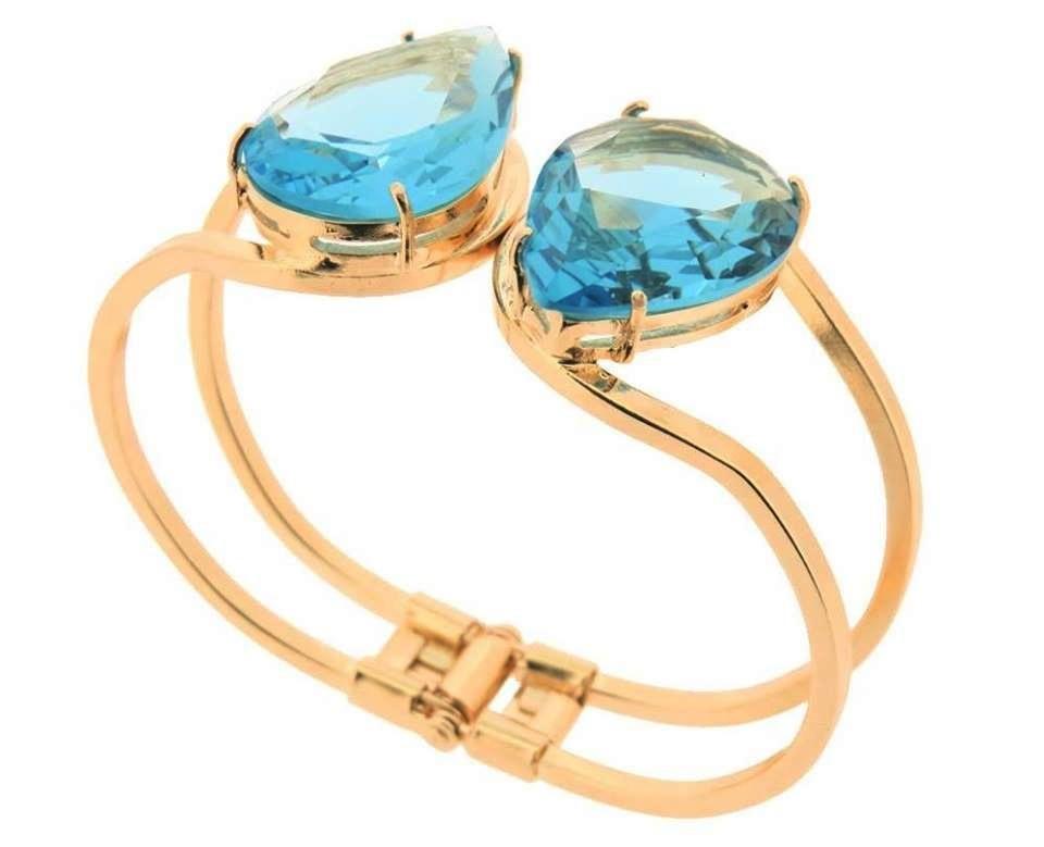Bracelete com Pedra Azul