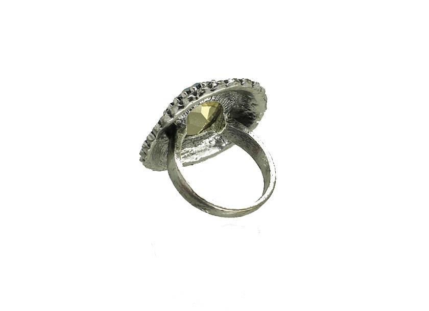 anel com pedra boho chic