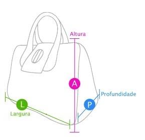 Medida de bolsas click bolsas e bijuterias