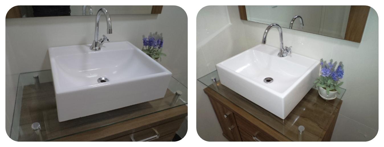 Cuba De Apoio Moderna Lavatório Para Banheiro E Lavabo  R$ 124,90 em Mercado -> Cuba Banheiro Fotos