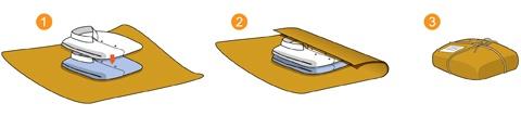 ilustração embalagem correios para devolução de roupas