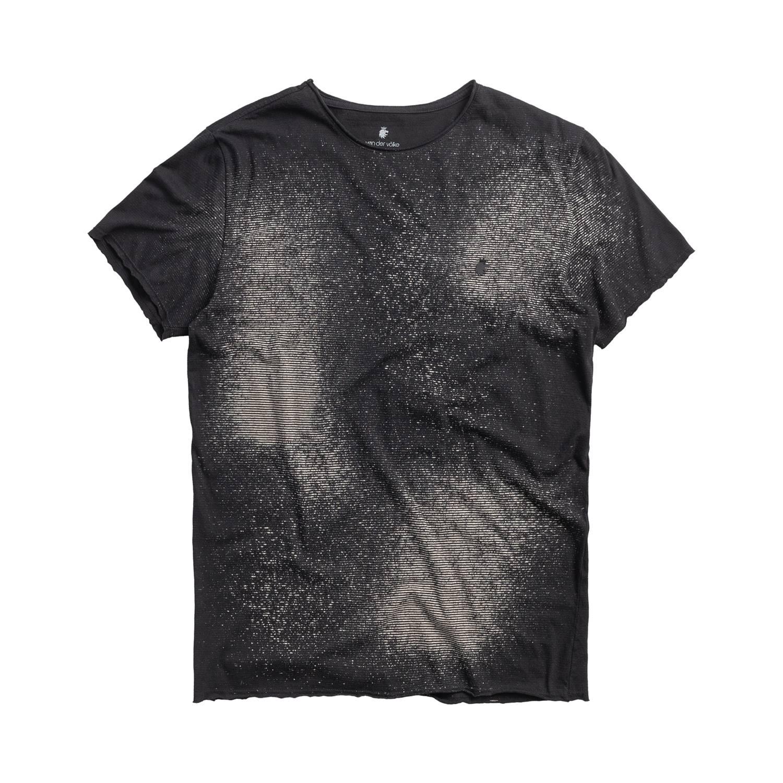 T-shirt Von Der Volke Spray Stripes - Preta