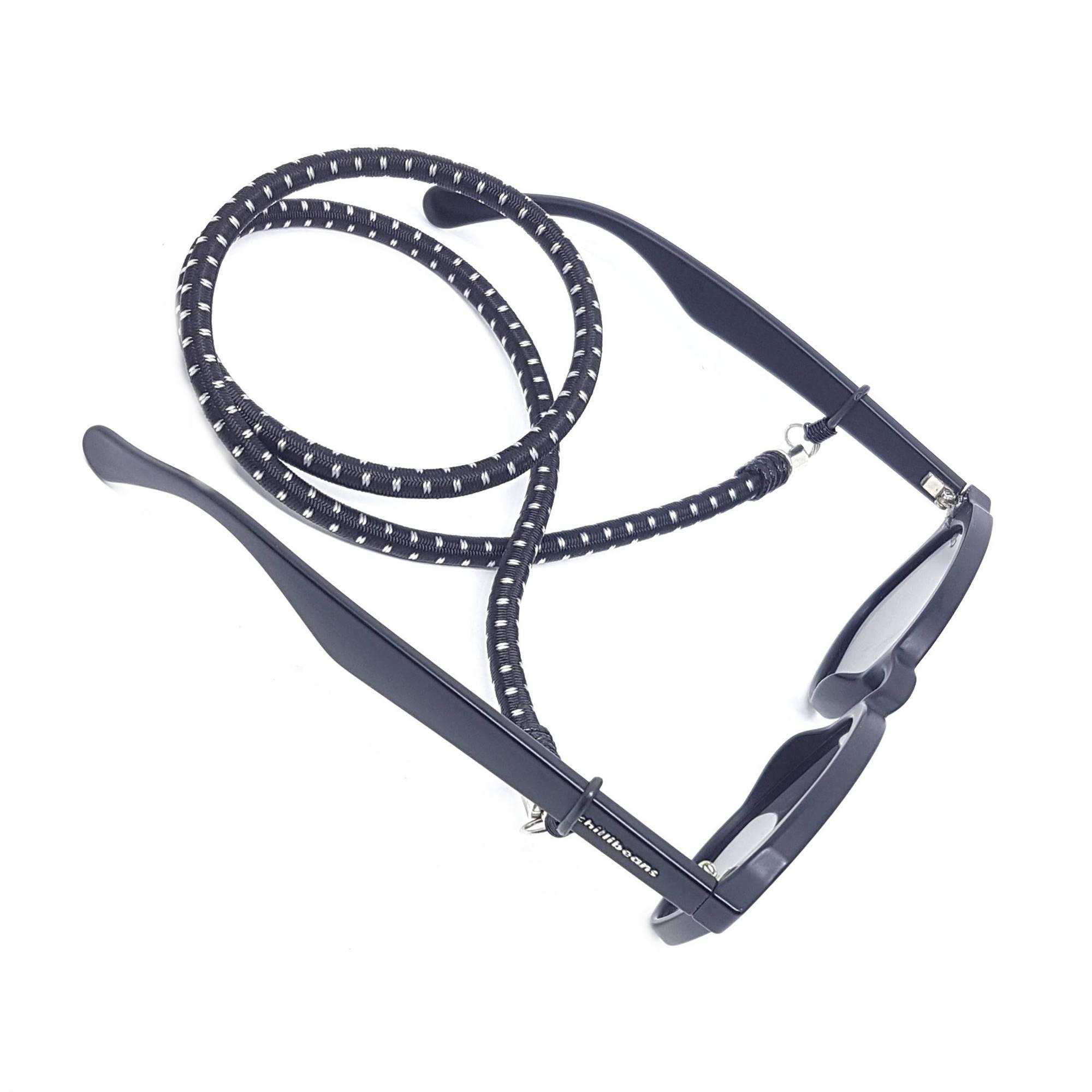 Cordão Para Óculos Preto e Branco