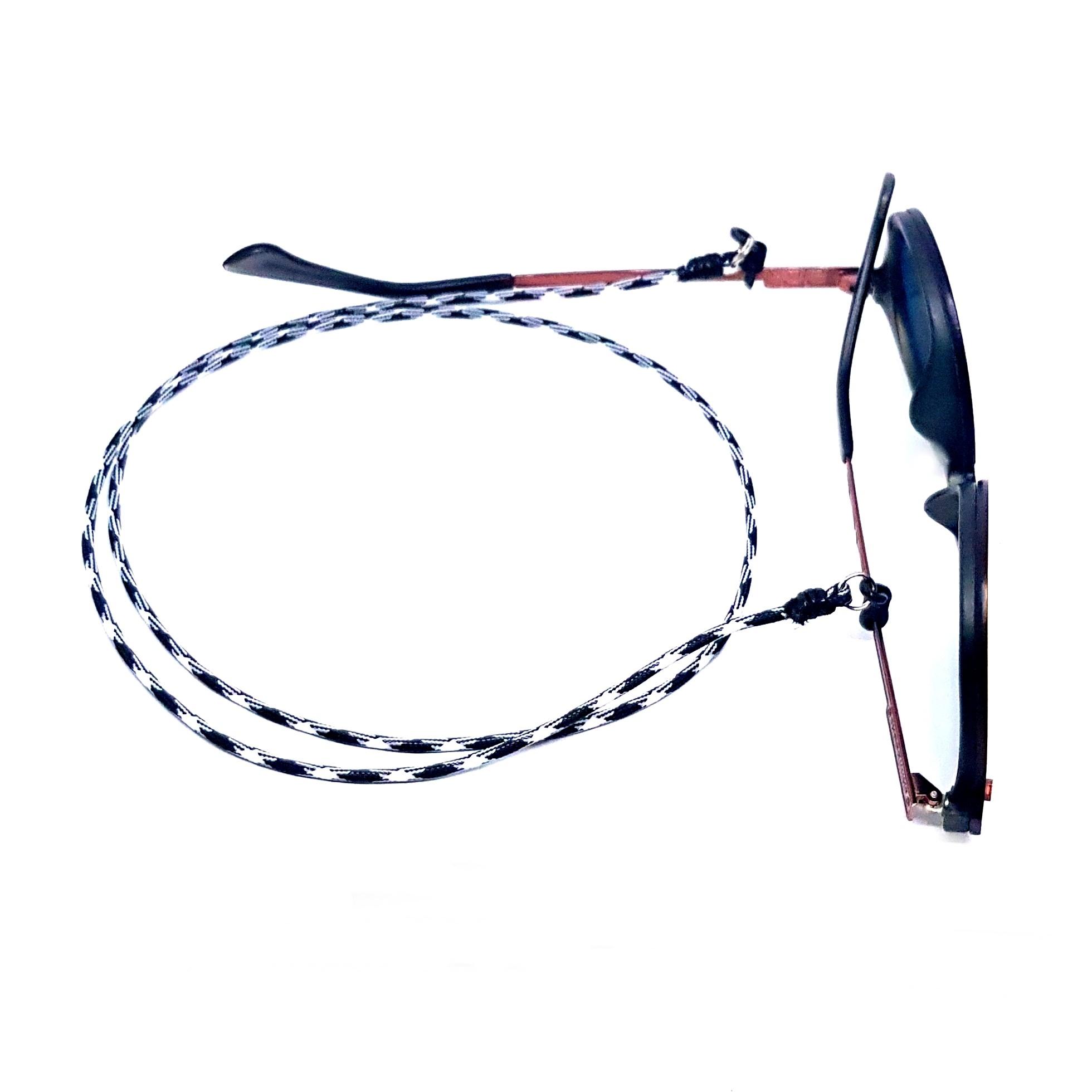 Cordão Empório Top Para Óculos Preto e Branco
