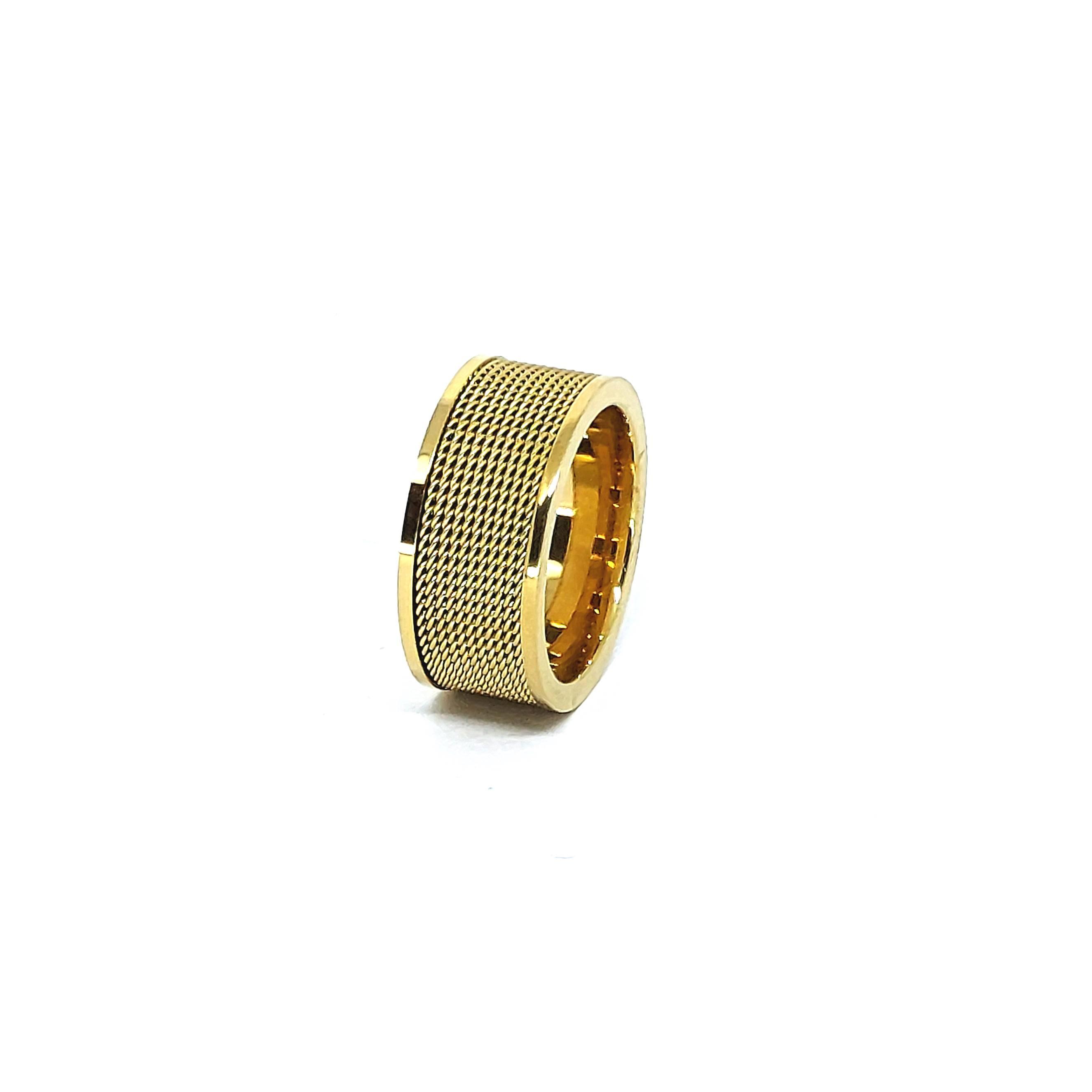 Anel Aço Inox New Gold