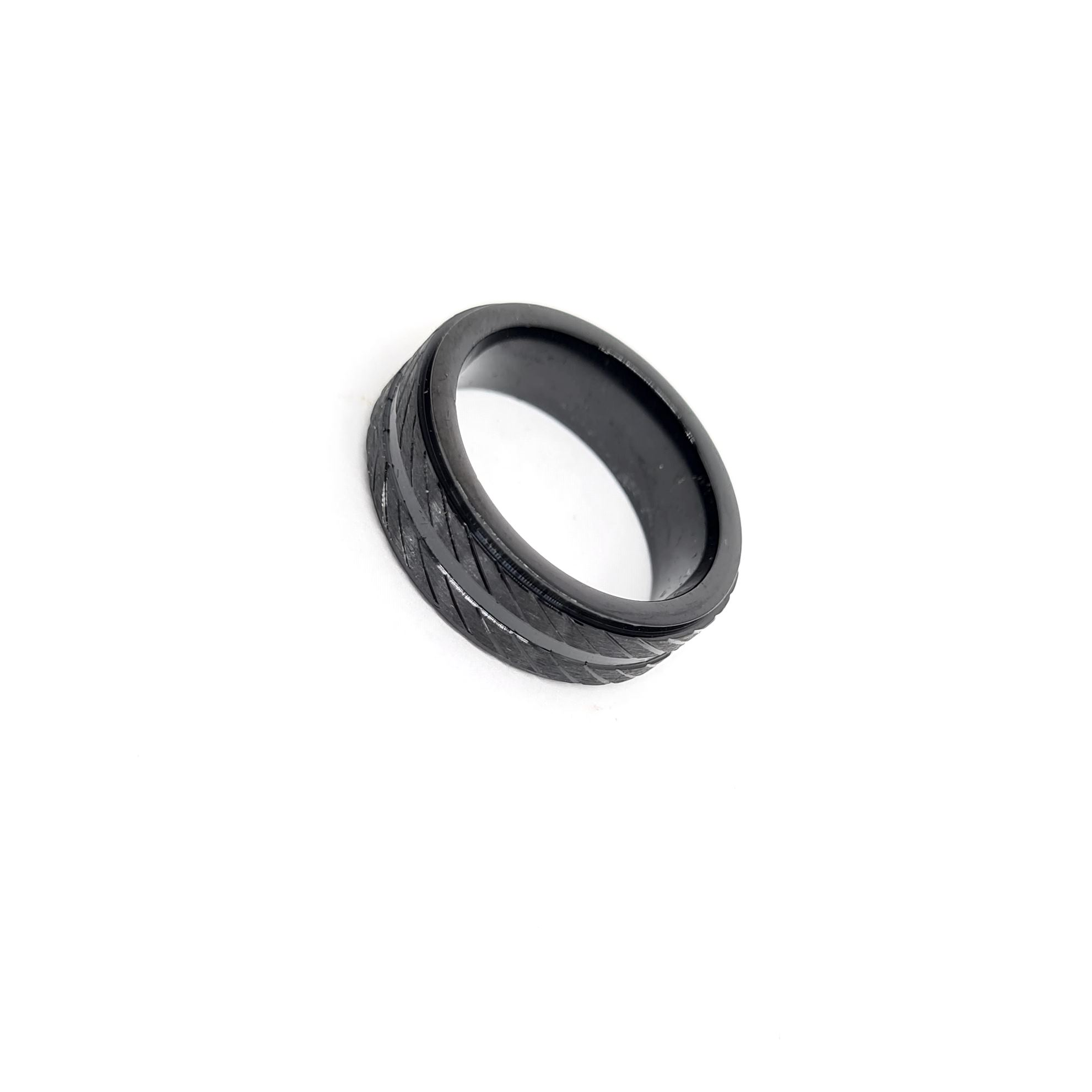 Anel Aço Inox New Black Series
