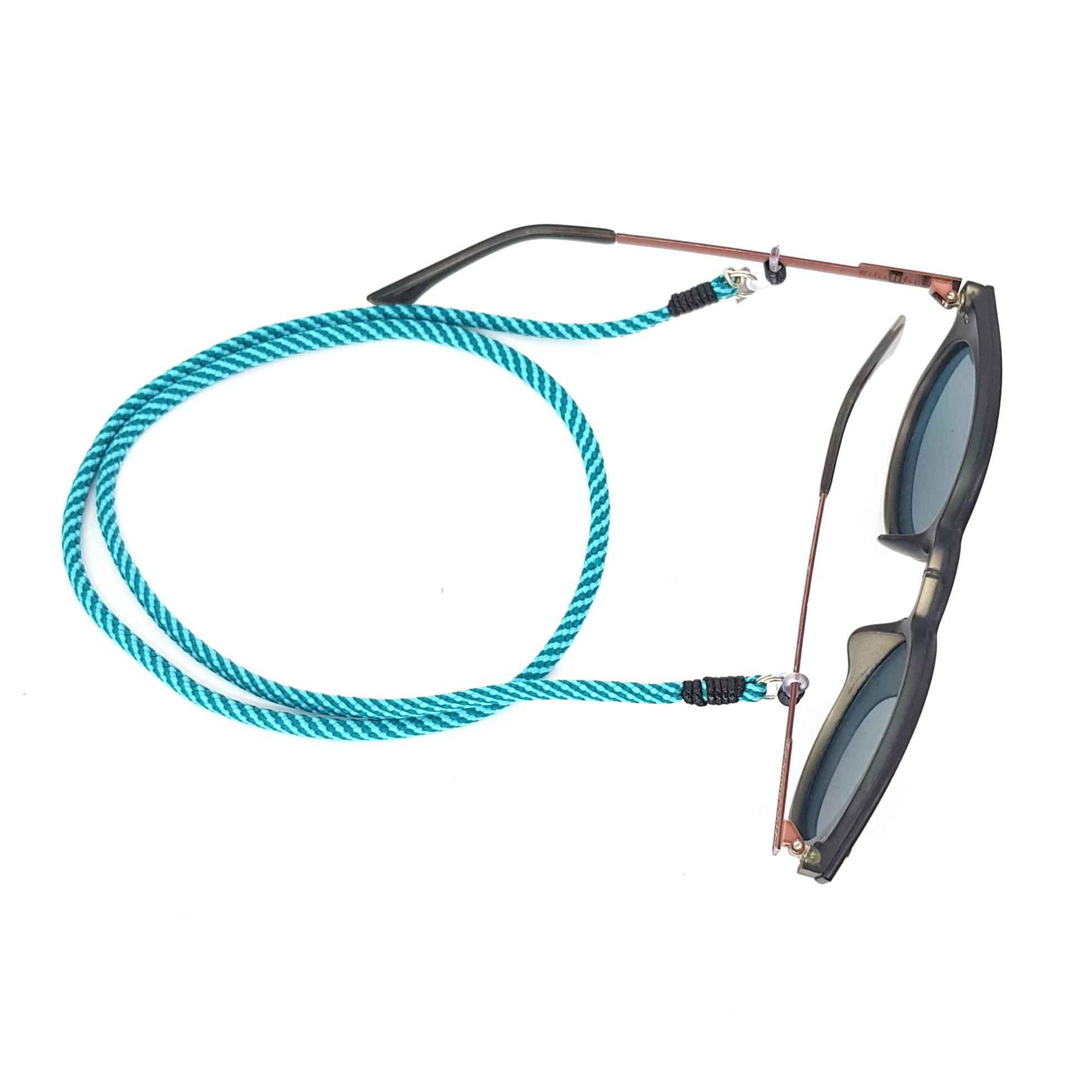Cordão para Óculos Azul Listrado