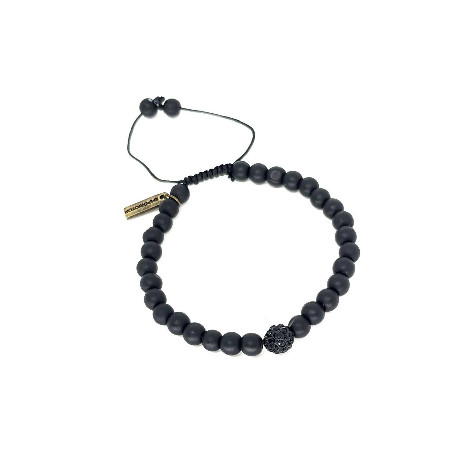 Pulseira de Pedra Ajustável Black Series Stone
