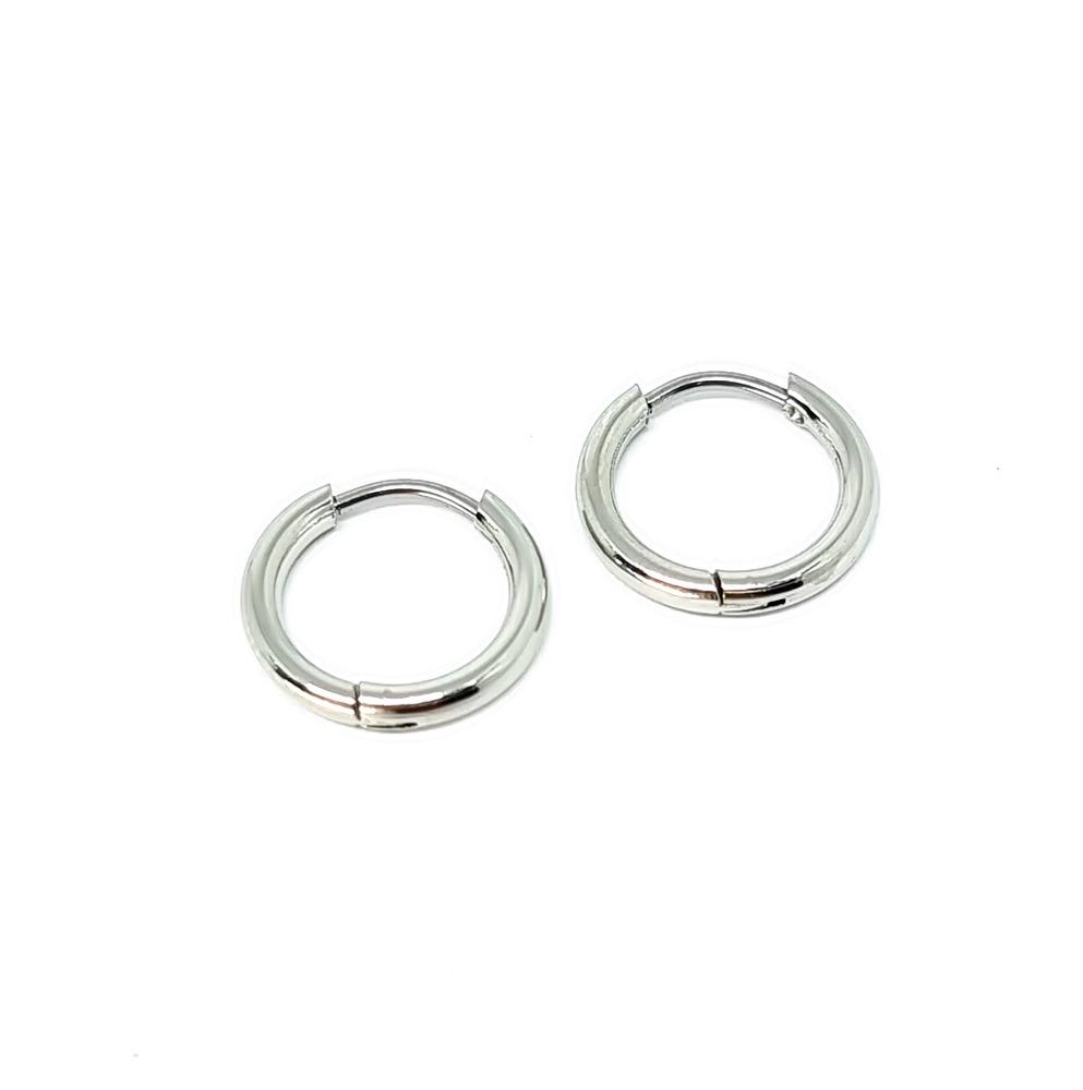 Brinco Aço Inox Ring Italic