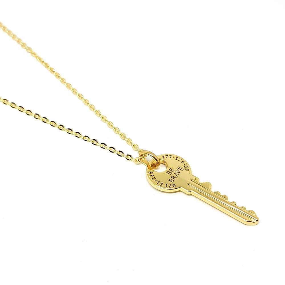 Corrente Aço Inox Key Gold