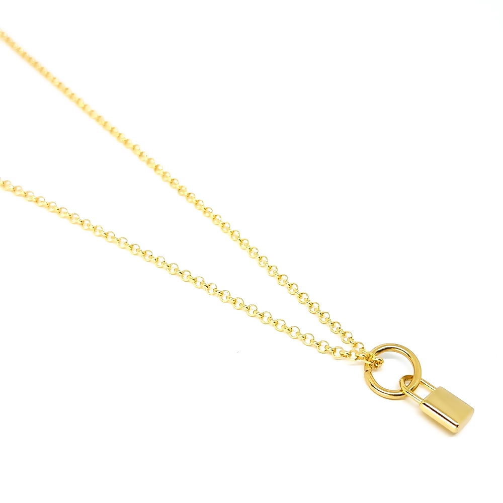 Corrente Aço Inox Lock Gold