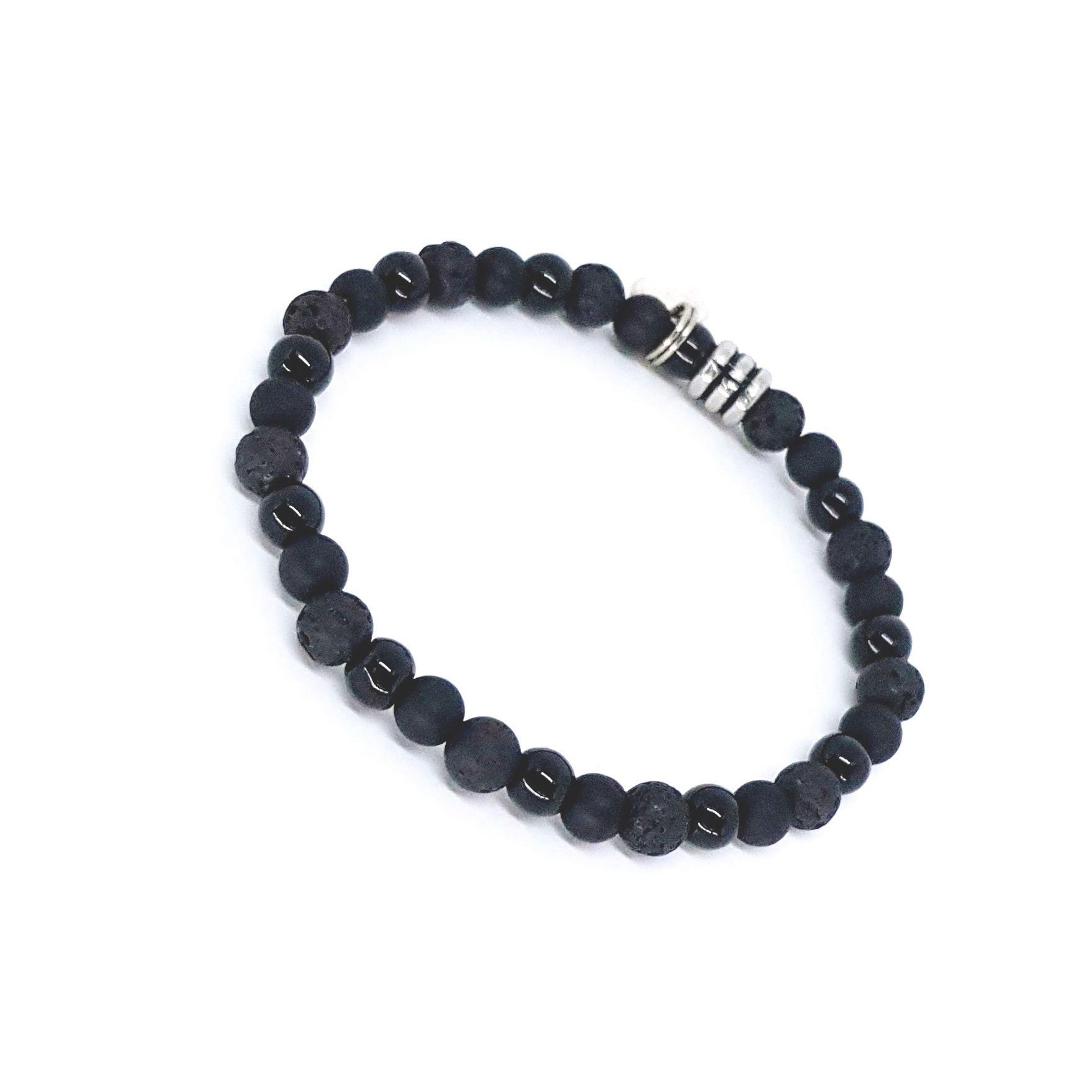 Pulseira de Pedras Mix Black