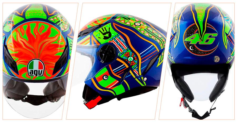 Capacete Agv Blade Five Continents Amarelo Azul Adrenalina Motos