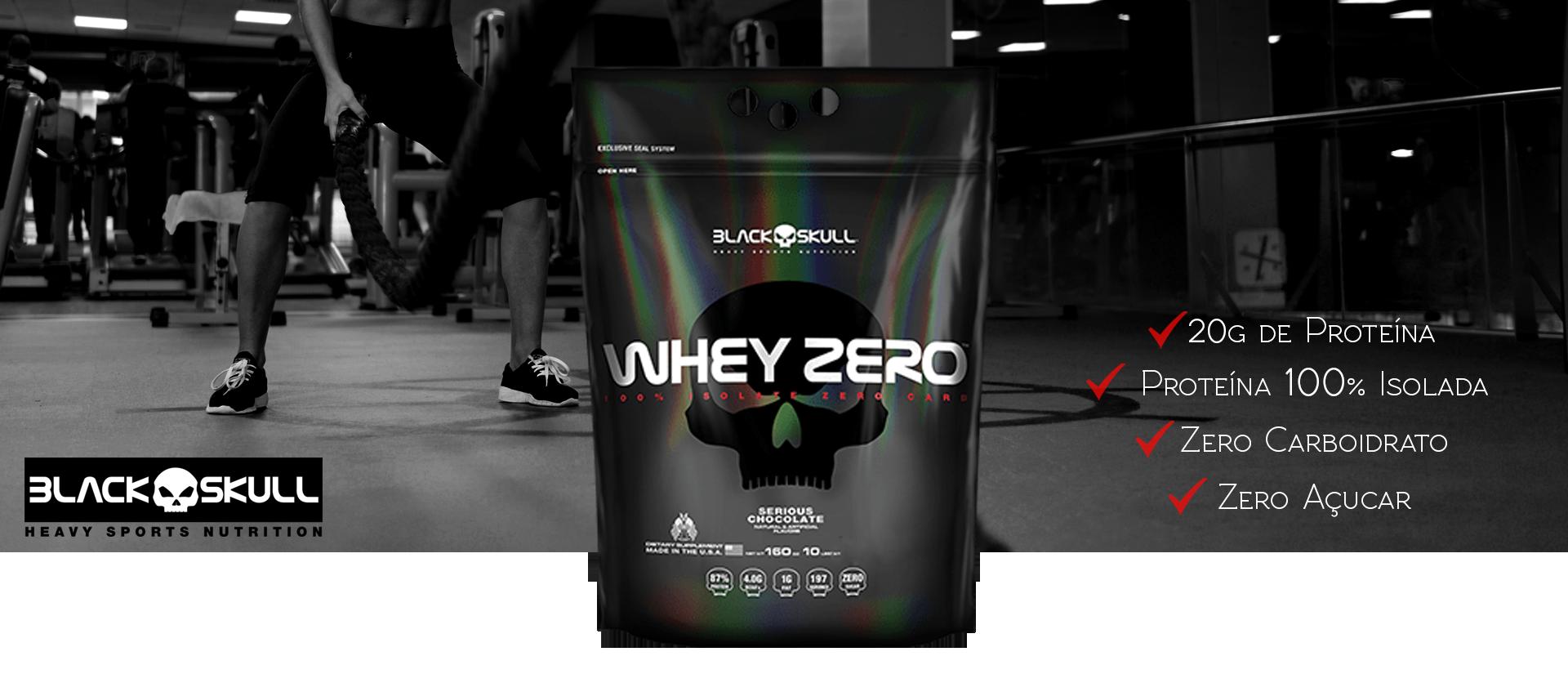 Descrição. Whey Zero da Black Skull USA é um suplemento alimentar formulado  com 100% whey protein isolado ... 29a5c97d42ee4