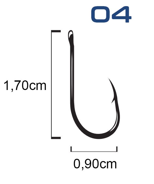 Anzol Saga Chinu Black Nickel N° 4 - Marine Sports - 30 Peças - LIFE ... b8a861a99dd
