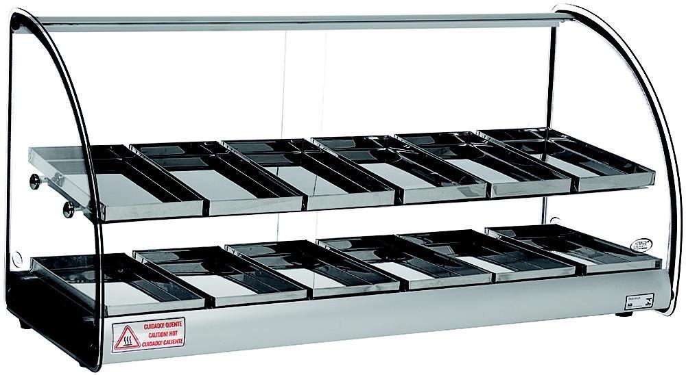 Estufas para salgados dupla com 12 bandejas.