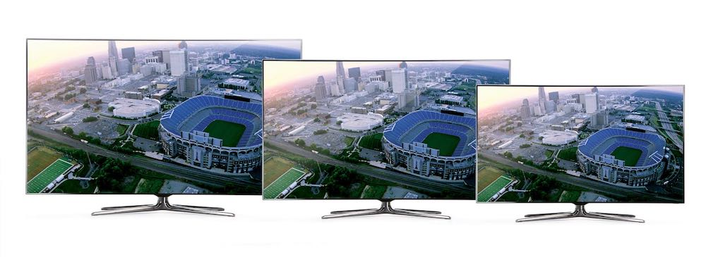 Imagem comparativo tamanho das tvs