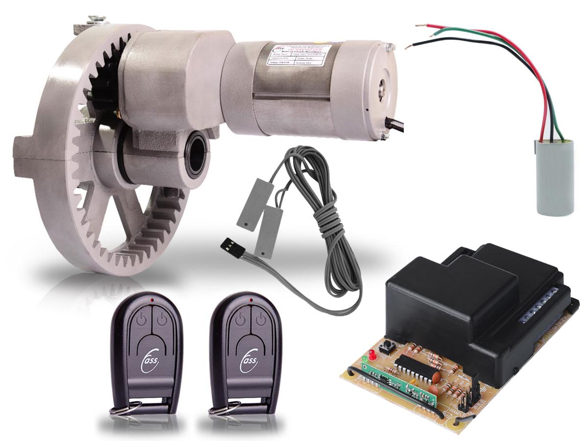 Kit Motor Portas de Enrolar de até 16 m² Cremalheira Alumínio Roller
