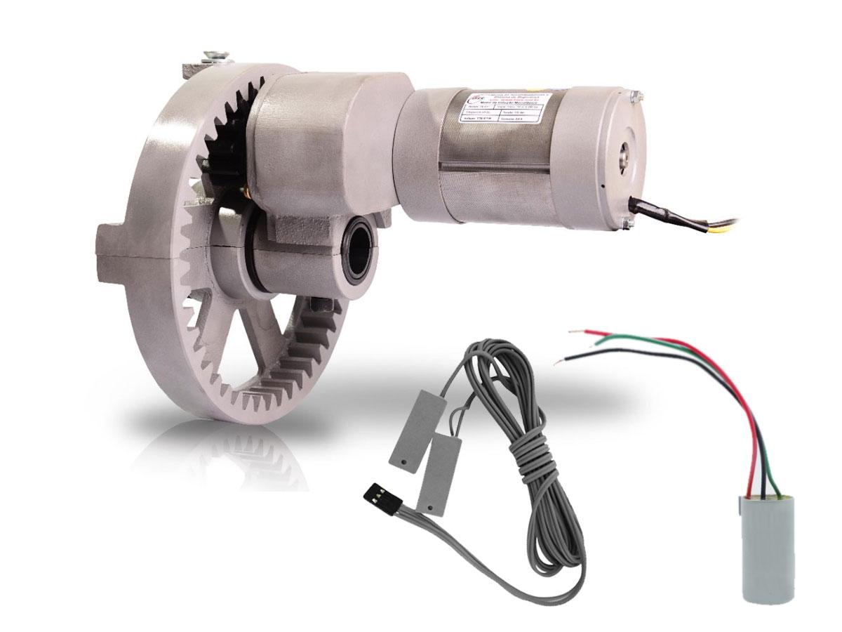 Motor para Portas de Enrolar de até 16 m² Cremalheira Alumínio Roller