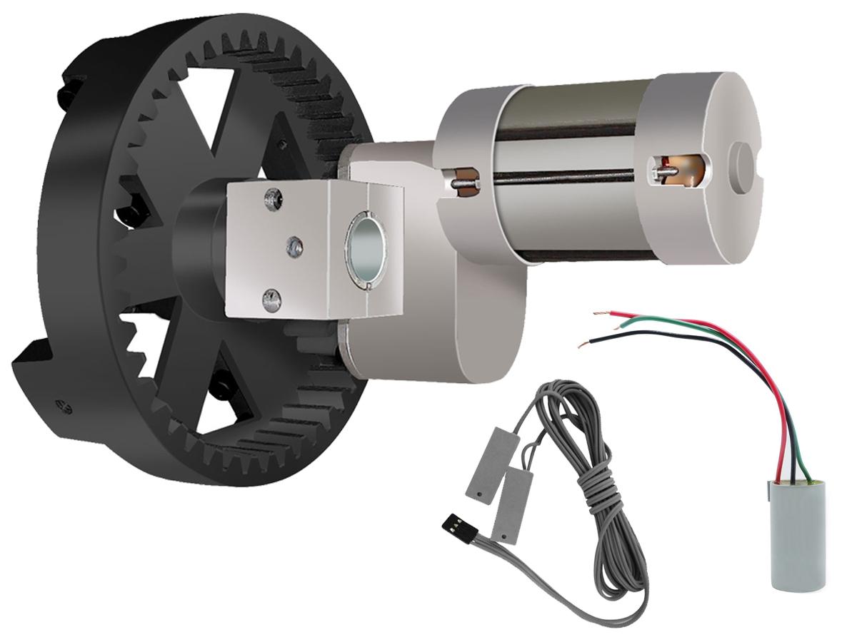 Motor para Portas de Enrolar de até 7,5 m² Cremalheira Nylon Roller