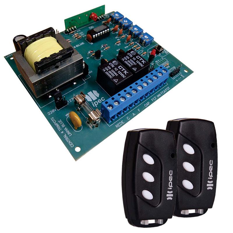 Placa Central Comando P4000 PPA + Controles Ipec Motor Portão