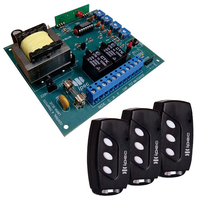 Placa Central Comando P4000 Portão PPA + 3 Controles