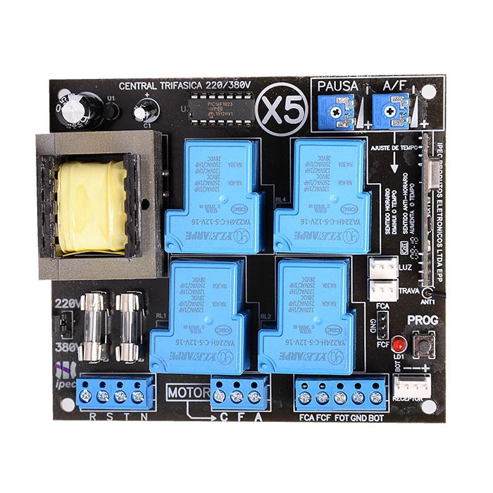 Placa Central Eletrônica X5 Trifásica Industrial Ipec Motor de Portão