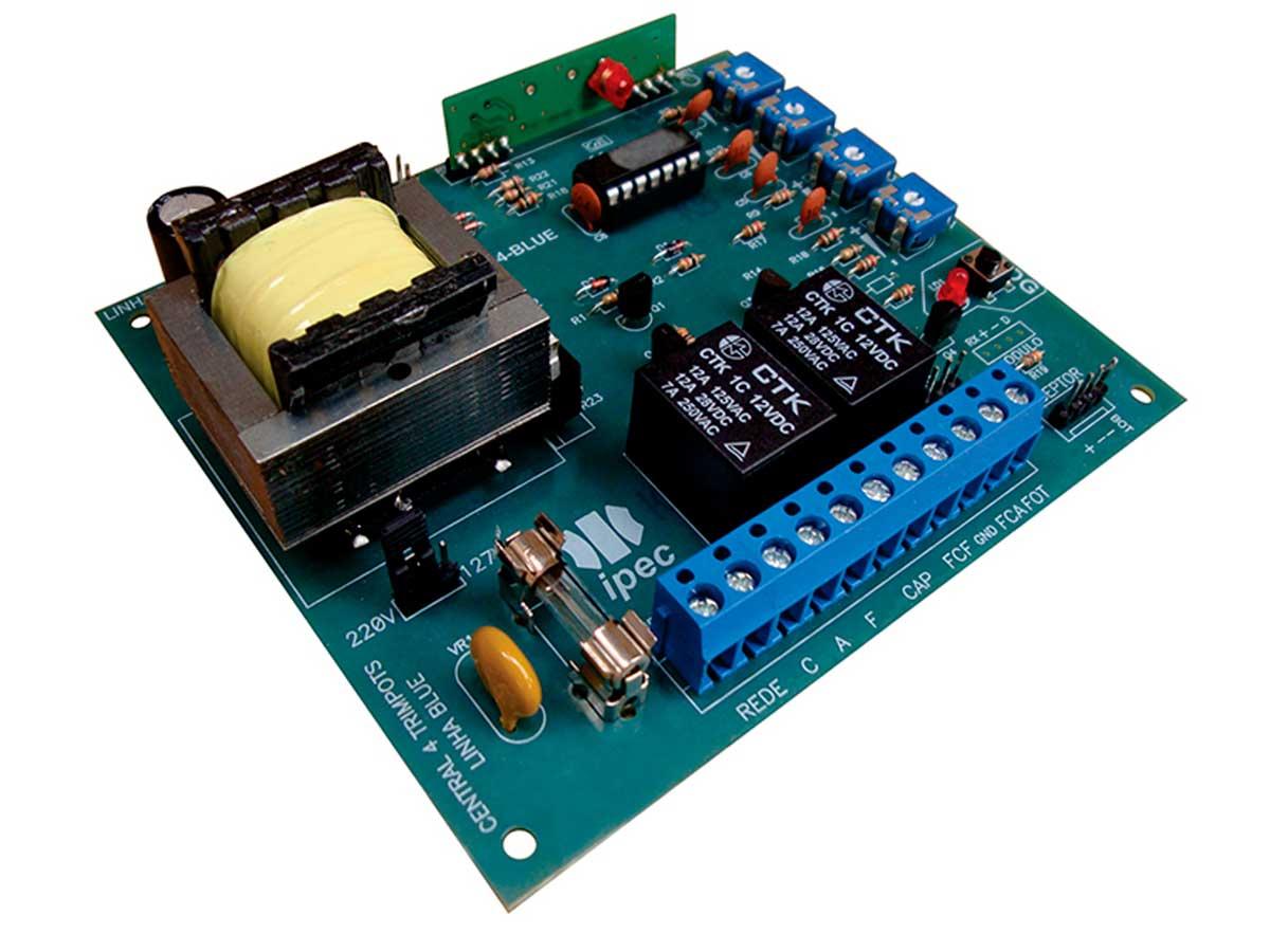 Placa Central Eletrônica P4000 Blue Ipec Para Automatizadores