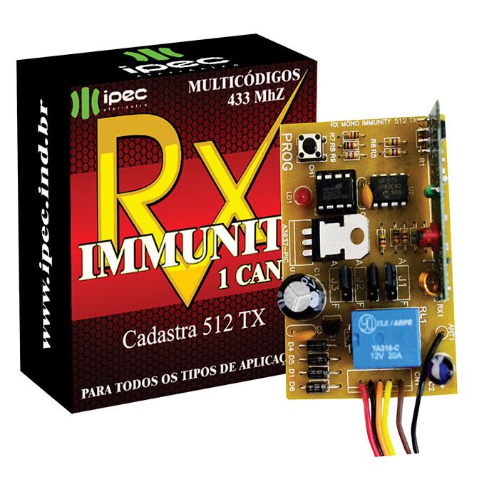 Receptor De Controles Remotos Rx Mono Immunity 512TX Ipec