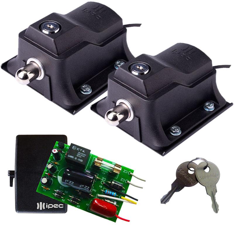 Kit 2 Travas Fechadura magnética Eco Lock Motor Portão automático
