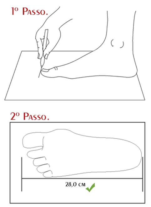 ensinando a medir o pé