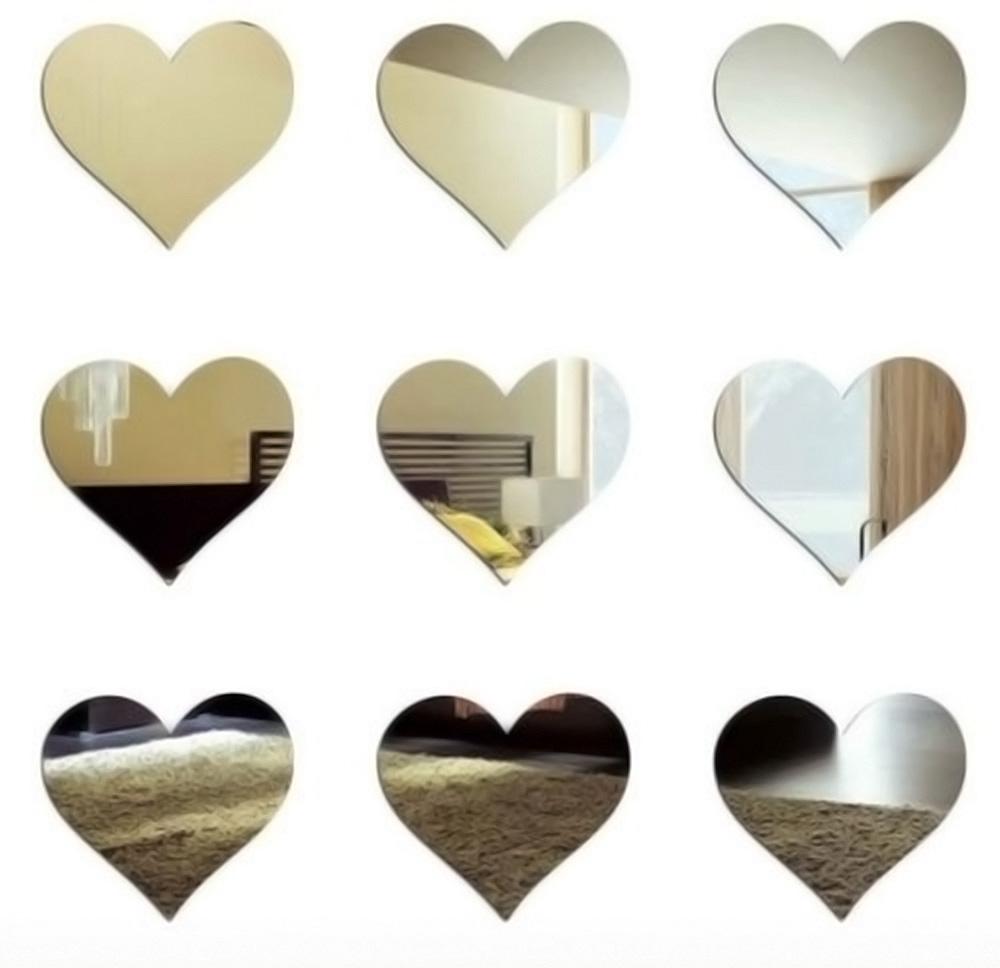 espelhos de corações