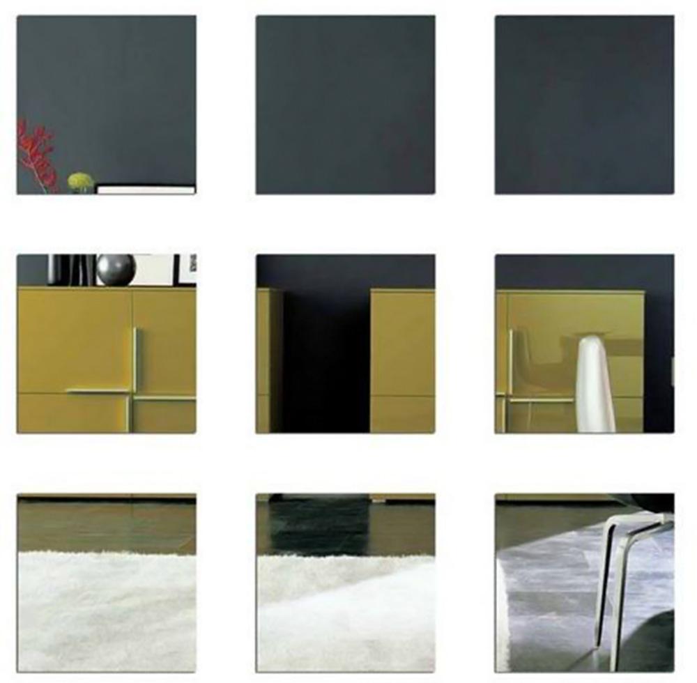 espelhos de quadrados