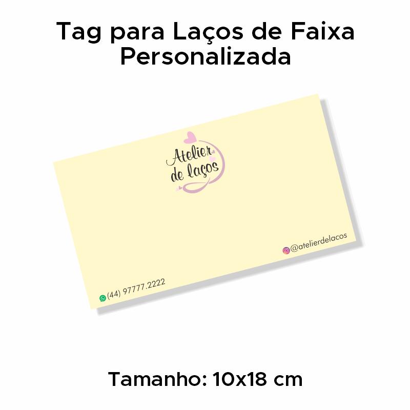 Tag para Laços de Faixa Personalizada