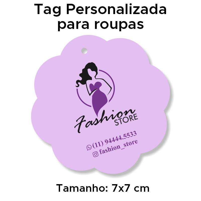 Tag Personalizada flor para roupas