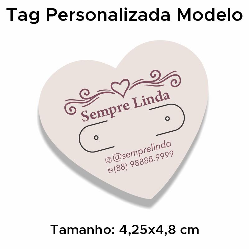 Tag Personalizada para Brincos Coração
