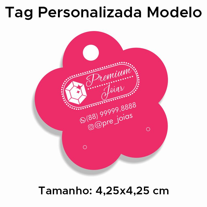 Tag Personalizada para Brincos Flor