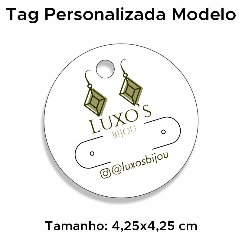 Tag Personalizada para Brincos Redonda