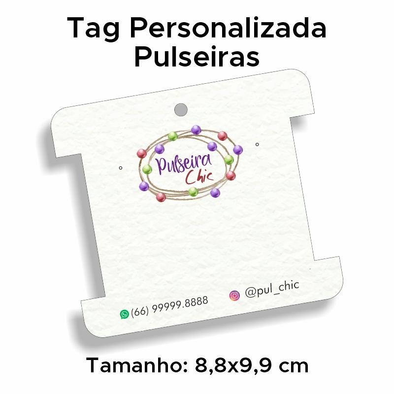 Tag Personalizada Pulseiras