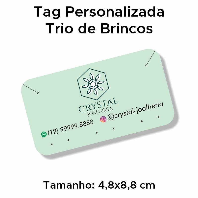 Tag Personalizada Trio de Brincos