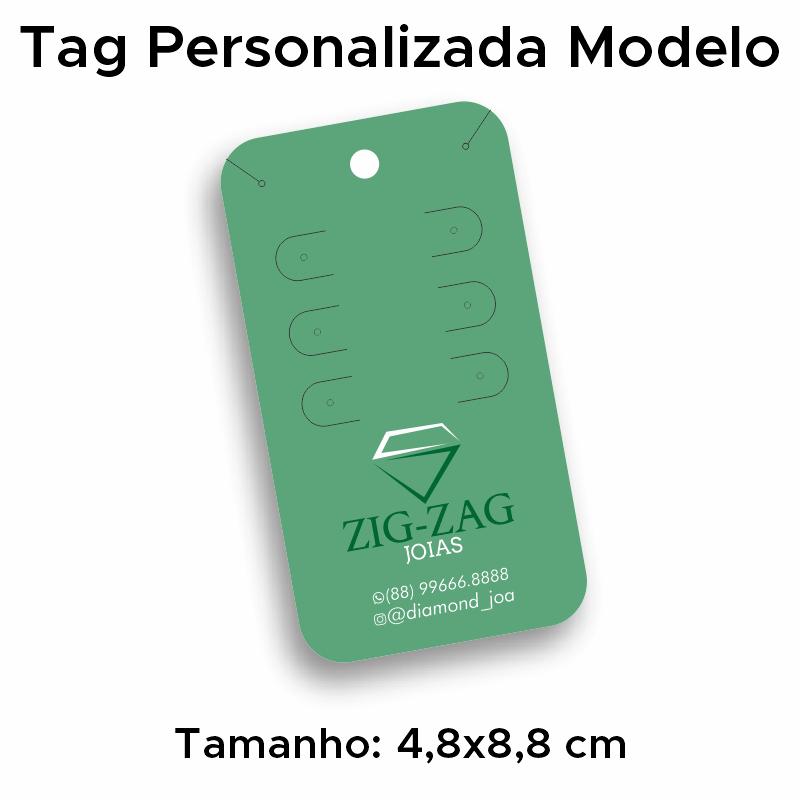 Tag Trio de Argolas ou Brincos Personalizada
