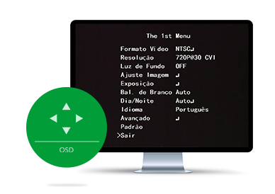 Menu OSD do VHD 1220 B G4 Intelbras
