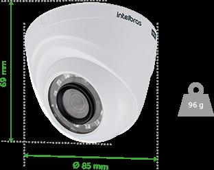 Dimensões e peso do VHD 1120 D G4 Intelbras