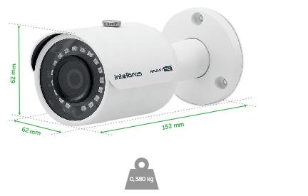 Dimensões e peso da VHD 3230 B G4 Intelbras