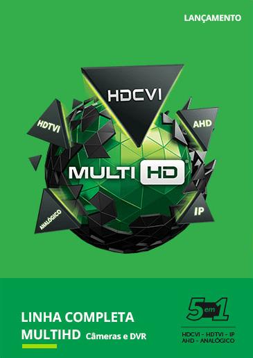 Linha completa multihd câmeras e DVR